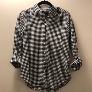 Ann Taylor Factory Tops - Gingham button up blouse